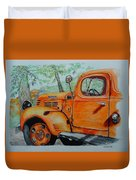 Old Dodge Truck At Patterson Farms Duvet Cover
