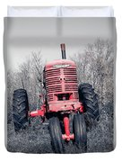 Old Farmall Farm Tractor Color Separation Nh Duvet Cover