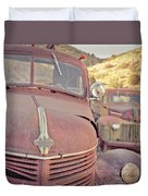 Old Friends Two Rusty Vintage Cars Jerome Arizona Duvet Cover