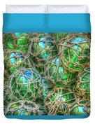 Old Glass Buoys Duvet Cover