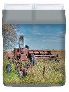 Old Hay Baler Duvet Cover