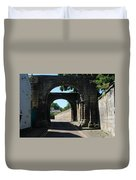 old historic town gate in Hexham Duvet Cover