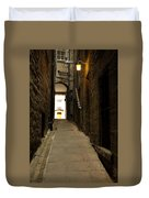 old medieval close in Edinburgh Duvet Cover