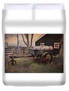 Old Milk Wagon Duvet Cover