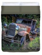 Old Model Aa Ford In The Jungle 2 Duvet Cover