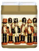 Old Nutcracker Brigade Duvet Cover