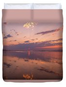 Old Orchard Beach Glorious Sunset Duvet Cover
