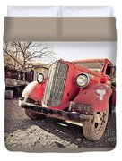 Old Red Truck Jerome Arizona Duvet Cover