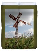 Old Rusty Windmill. Duvet Cover