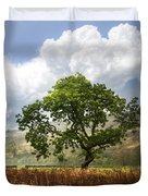 Old Scottish Farmlands Under The Clouds Duvet Cover