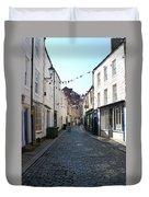 old town street in Hexham Duvet Cover