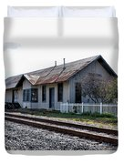 Old Train Depot In Gray, Georgia 1 Duvet Cover