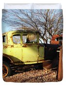 Old Yellow Coupe Duvet Cover