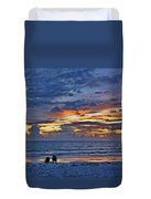 On A Quiet Beach With You Duvet Cover