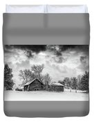 On A Winter Day Monochrome Duvet Cover