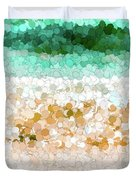 On The Beach Abstract Painting Duvet Cover