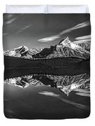 On The Trail Bw Duvet Cover