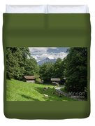 one afternoon in Ballenberg Duvet Cover