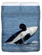 One Orca Leaping Duvet Cover
