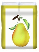 One Yellow Juicy Pear Duvet Cover