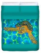 Opal Sea Turtle Duvet Cover