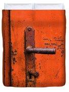 Orange Door Handle Duvet Cover