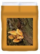 Orange Funghi Duvet Cover by Scott Lyons