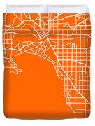 Orange Map Of Melbourne Duvet Cover