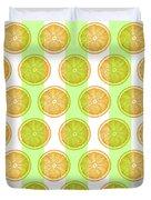 Orange Slice Pattern 2 - Tropical Pattern - Tropical Print - Lemon - Orange - Fruit - Tangerine Duvet Cover