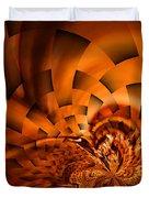 Orange Weave Duvet Cover