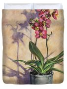 Orchids And Plums Duvet Cover