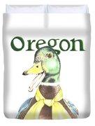 Oregon Duck Duvet Cover