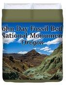 Oregon - John Day Fossil Beds National Monument Blue Basin Duvet Cover