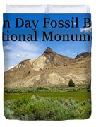 Oregon - John Day Fossil Beds National Monument Sheep Rock 1 Duvet Cover