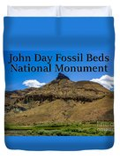 Oregon - John Day Fossil Beds National Monument Sheep Rock 2 Duvet Cover