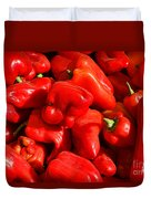 Organic Red Peppers Duvet Cover