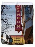 Orpheum Theater Madison, Alice Cooper Headlining Duvet Cover