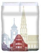 Osijek Skyline Poster  Duvet Cover