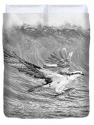 Osprey The Catch Bw Duvet Cover