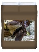 Otter Interrupted Duvet Cover by Kate Brown
