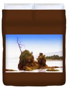 Outlying Tillamook Bay Duvet Cover