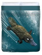 P Is For Platypus Duvet Cover