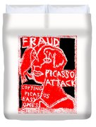 Pablo Picasso Attack 6 Duvet Cover