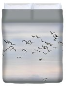 Pacific Ocean Sky With Sea Gull Duvet Cover