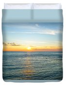 Pacific Ocean Sunset Duvet Cover