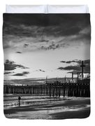 Pacific Park - Black And White Duvet Cover