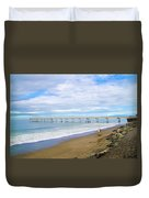 Pacifica Municipal Pier - California Duvet Cover