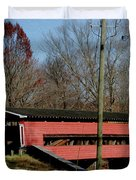 Painted Bridge At Chads Ford Pa Duvet Cover