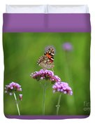 Painted Lady Butterfly Beauty Duvet Cover