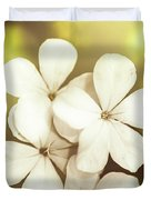Pale Wildflowers Duvet Cover